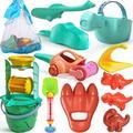 Kids Beach Toys Sand Toys Set, Dinosaur Theme Beach Toys, Toddlers Sand Water Wheel, Beach Molds, Beach Bucket Shovel Tool Kit, Sandbox Toys for Kids, Outdoor Toys for Toddlers Age 2 3 4 5 6