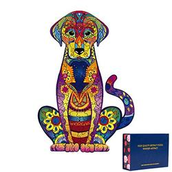 Wooden Puzzles for Adults,Wooden Animals Shaped Puzzles,Unique Shaped Jigsaw Puzzles,Magic Wooden Jigsaw Puzzles,Wood Puzzles Adult,Labrador Unique Puzzles (Small-9.25?x6.3?)