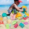 GobiDex Beach Sand Toys-27Pcs Sand Toys Set with Sand Molds,Sand Water Wheel,Beach Bucket,Watering Can,Beach Shovel Tool Kit,Sandbox Toys,Outdoor Indoor Beach Toys for Boys,Girls,Toddlers,Kids