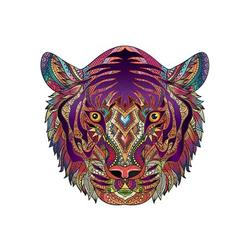 Wooden Jigsaw Puzzles, Unique Tiger Shape Jigsaw Pieces, Animal Shaped Jigsaw, High Difficulty Unmarked Jigsaw Puzzle Game Toys for Adults Kids Boys and Girls, Best for Family Game Play Collection