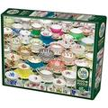 Cobblehill 80034 1000 pc Teacups Puzzle, Various, High Quality Jigsaw puzzle By Brand Cobblehill