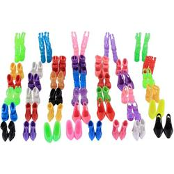 40 Pairs Shoes for Barbie Dolls, Topseller Barbie Doll Shoes Replacement Set Assorted Colors High Heel Shoes Sandals Boots Flat Shoes Accessories for Barbie Dolls Playset Girls' Birthday Gift (#1)