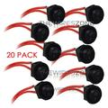 Universal Black 12 Volt 2 Pin Round On/Off Mini Rocker Switch Harness (20/pack), Universal ON/OFF Mini Switch By The Wires Zone