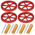 4 Pcs Upgraded Aluminum Hand Twist Leveling Nut, TSV Hot Bed Die Springs, Metal Hand Twist Leveling Nut Suit Fit for Ender 3/3 Pro, Ender 5/5 Plus/Pro, CR-10, CR10S/10S Pro CR 20 3D Printer