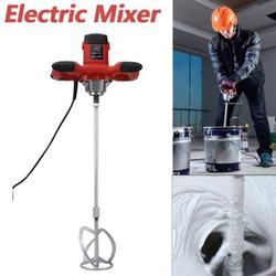 HERCHR 1pc Red 1500W Handheld 6-speed Electric Mixer for Stirring Mortar Paint Cement Grout AC 110V, Paint Mixer, Grout Mixer