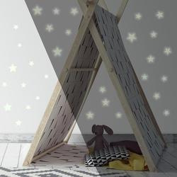 RMK3527SCS Glow in the Dark Stars Peel and Stick Wall Decals, Comes with 60 wall Decals; decal range size 1.5 inch wide x 1.5 inch high to 3 inch wide x.., By RoomMates
