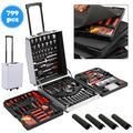 Ktaxon 799 PCS Hand Tool Set, Mechanics Tool Kit, Wrenches Socket, w/ Trolley Case