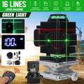 16 Line Laser Level Green Light 3D Remote Control Measure With Self-Leveling System Green Beam Laser