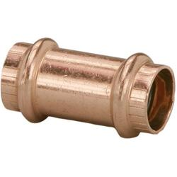 """VIEGA 78172 Propress Zero Lead Copper Coupling without Stop 1/2"""" Press x Press (5-Pack), Connections are made in four to seven seconds and ensures a consistent,.., By Brand Viega"""