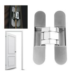FEAMOS Hidden Door Hinges Invisible Hinges Concealed Hinges Zinc Alloy 180 Degree Swing Hinge 3 Way Adjustable Butt Hinge (1 Hinge)