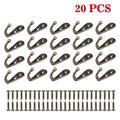 20pcs Wall Mounted Robe Hook, EEEkit Coat Hooks Retro Cloth Hanger Towel Hat Coat Key Hooks Single Wall Mounted Hook Hangers with 40pcs Screws - Black/White