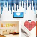 Papaba Wall Sticker,100Pcs 2x2cm Acrylic 3D Mural Wall Stickers Mosaic Mirror Effect Room DIY Square Decors