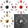 3D DIY Wall Clock Frameless Large Acrylic Mirror Surface 3D DIY Wall Clock Home Office School Wall Decor Clock Stickers