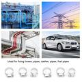 OTVIAP 50PCS Multi Size 8mm-29mm Stainless Steel Hoop Clamp Automotive Pipes Clip Fixed Tool Accessory,Stainless Steel Hoop Clamp,Stainless Steel Hose Clamp