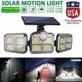 122 Led 1000LM Solar Lights Outdoor Garden, Solar Lamps Outdoor Waterproof with 3 Adjustable Heads, 780ft² Yard Illumination Solar Motion Sensor Wall Mounted Security LED Flood Light