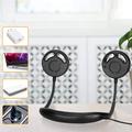 Portable Fan, USB Fan Quiet Hand Free Fan Bladeless Neck Fan 2 Folding Fan for Hiking, Outdoor Camping