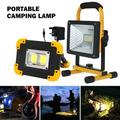 Willstar 50W LED Portable Camping Lamp Rechargeable Cordless Work Site Flood Light Mobile Portable Camping