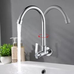 360 Degree Stainless Steel Faucet Stainless Steel Single Lever Spout Kitchen Cold Water Sink Tap/Kitchen Mixer Tap Kitchen Faucet Basin Sink Tap Single Lever