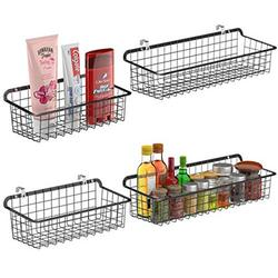 Wall Basket, Cambond Metal Wall Mounted Wire Baskets for Storage, Durable Hanging Wire Wall Basket for Kitchen, Home, Office, Bathroom, Garage, Wall Mount Hooks Included, 2 Large and 2 Small