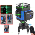 16 Lines 4D Laser Level Self-Leveling 360 Degre Horizontal And Vertical Cross Lines Green Laser Line With Tripod Battery