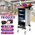 4 Drawer Salon Trolley Cart, Space Saving Salon Rolling Cart for Extra Storage Hair Salon Beauty Storage Cart Multipurpose Tool Cart Hair Rack