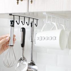 Higoodz Storage Rack,Multi-functional Kitchen Storage Rack Cupboard Shelf Hanging Hook Wardrobe Organizer Holder,Shelf Hooks