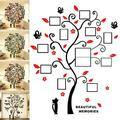 DIY 3D Wall Stickers Creative Family Life Tree Photo Frames Crystal Acrylic Removable Decals Art Mural for Living Room Bedroom Sticker Home Decor (CABINA HOME - Cat)
