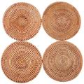 Thirstystone Drink Coasters Coasters for Drinks Set of 4 Round Woven Placemats Rustic Coasters Hand Made Coasters for Drinks Absorbent Cup Coasters for Table Round Cup Mat (Size : 7.9in)