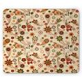 Paisley Mouse Pad, Floral Design with Spring Motifs and Paisley Elements Oriental in Design, Rectangle Non-Slip Rubber Mousepad, Multicolor, by Ambesonne