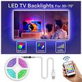 Led TV Backlight, Bason 8.33ft USB Led Lights Strip for TV/Monitor Backlight, Led Strip Light with Remote, TV Bias Lighting for Room Home Movie Decor.(42-50inch) …
