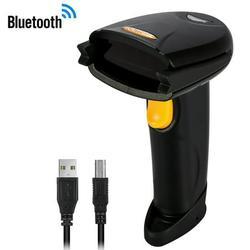 Spptty Wireless Bluetooth,Wireless Bluetooth 4.0 & USB 3.0 Wired Barcode Scanner, 1D Handheld Inventory Laser Bar Code Re