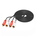 2RCA Male to 2RCA Male Stereo Audio Cable Gold Plated for Home Theater, HDTV, Gaming Consoles, Hi-Fi Systems (10ft)
