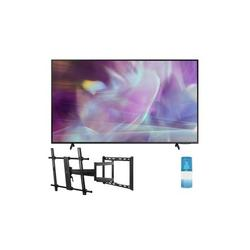 """Samsung QN75Q60AA 75"""" QLED Q60 Series 4K Smart TV Titan Gray with a Walts TV Large/Extra Large Full Motion Mount for 43""""-90"""" Compatible TV's and Walts HDTV Screen Cleaner Kit (2021)"""