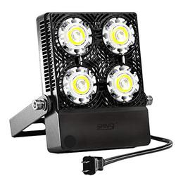 30W Outdoor LED Flood Light, 200W Equiv. 3000lm Super Bright Outdoor Security Light with Switch, IP66 Waterproof, 5700K Daylight White, Landscape Floodlight with Plug for Backyard, Garden, Wareho