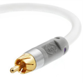 Mediabridge Ultra Series Subwoofer Cable (25 feet) - Dual Shielded w/ Gold Plated RCA Connectors - White (Part# CJ25-6WR-G1 )