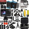 GoPro HERO9 Black Premium Bundle ?SanDisk Extreme Pro 64GB microSD Memory Card, Spare Battery, Underwater Housing, Carrying Case, & Much More