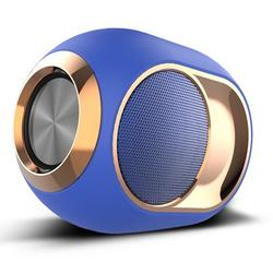 Wireless Speaker Stereo Bluetooth Speaker Player, Golden Egg Wireless Bluetooth Speaker Super Strong Subwoofer Portable Blue