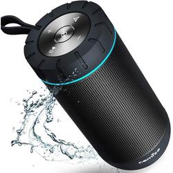 COMISO Bluetooth Speaker Waterproof IPX7 (Upgrade), 25W Wireless Portable Speaker 5.0 with Loud Stereo Sound, 360 Surround Sound, 36 Hours Playtime, 100ft Bluetooth Range Outdoor Speaker (Black)