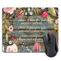 Wknoon Rectangle Mouse Pad Christian Bible Verses Scripture Jeremiah 29-11 Quotes, Vintage Flowers Rustic Old Colored Floral Wood Art Mouse Pads, for i Know The Plans i Have for You Mousepad Product