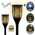 Theater Solutions TT100 Fully Wireless 120 Watt Rechargeable Battery Bluetooth Tiki Torch Speaker 2 Pack Lanterns Link Up To 99 Speakers Wirelessly