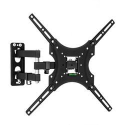 Full Motion TV Wall Mount Bracket for 26-55 Inch TVs, Swivel TV Wall Mount – Wall Mount TV Bracket with TV Center Design & Extend 31 Inch , up to VESA 400x400mm and 66LBS