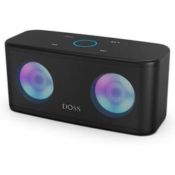 Bluetooth Speakers, DOSS SoundBox Plus Portable Wireless Bluetooth Speaker with 16W HD Sound and Deep Bass, Wireless Stereo Pairing, 20H Playtime, Wireless Speaker for Home, Outdoor, Travel - Black