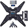 """RENTLIV Full Motion TV Wall Mounts TV Bracket for Most 26-55"""" TVs, up to VESA 400 x 400 mm and 99 lbs., TV Mount with Swivel Articulating 19"""" Extension Arm, Easy Single Stud Installation"""