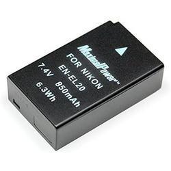 Maximalpower for Nikon EN-EL20, EN-EL20A Battery, Nikon Coolpix P950, P1000, DL24-500, Coolpix A, 1 J1, 1 J2, 1 J3, 1 S1, 1 V3 Digital Cameras