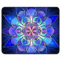 BOSOBO Gaming Mouse Pad, Rectangle Mandala Mouse Mat, Small Mousepad with Designs, Non-Slip Rubber Mouse Pad with Stitched Edges, Custom Office Mouse Pad for Women and Men, 10.2 x 8.3 Inch, Blue