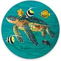 """Round Mouse Pad, Sea Turtles Mouse Pad, Cute Seaturtles Fish Gaming Mouse Mat Waterproof Circular Small Mouse Pad Non-Slip Rubber Base MousePads for Office Home Laptop Travel, 7.9""""x0.12"""" Inch"""