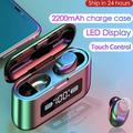 Wireless Earbuds for Android, TWS 5.0 Wireless Bluetooth Earbuds with 1200mAh Charging Case, IPX7 Waterproof in-Ear Wireless Headphones with Stereo Hi-Fi Sound, One-Step Pairing Bluetooth Earbuds