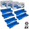 Ld compatible replacements for pc402 set of 6 thermal fax ribbon refill rolls for use in fax 560, fax 575, fax 580mc, intellifax 560, 565, 580mc, and mfc-660mc printers
