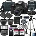 Canon EOS 90D DSLR Camera and Canon EF-S 18-55mm f/3.5-5.6 is STM Lens & Deluxe Accessory Bundle ? Includes: 2X 32GB SDHC Memory Card, Extended Life Battery, Carrying Case & More!