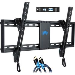 """Mounting Dream UL Listed TV Mount for Most 37-70 Inches TVs, Universal Tilt TV Wall Mount Fits 16"""", 18"""", 24"""" Studs with Loading 132 lbs & Max VESA 600x400mm,Low Profile Wall Mount Bracket MD2268-LK"""